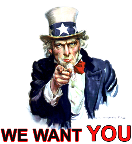 We want you image